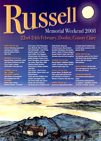 Click to view a larger image of the Russell Memorial Weekend festival poster for 2011